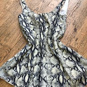 TOBI snake print mini dress